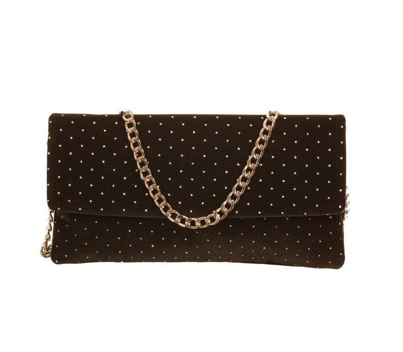 Le Babe Sky Black Handbag