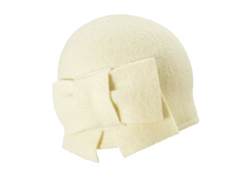 Seeberger Seeberger 011057/18 Off-White Wool Hat