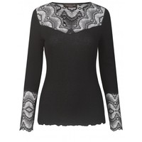 Rosemunde 4560–010 Silk Top with Lace
