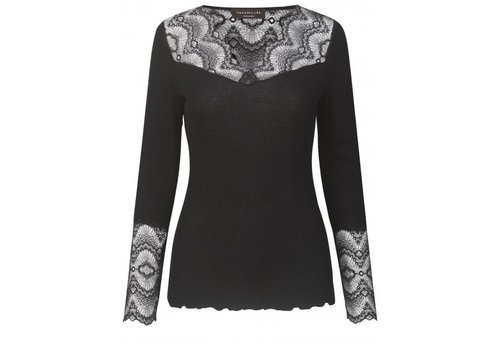 Rosemunde Rosemunde 4560–010 Silk Top with Lace