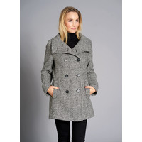 Junge 0219-2627-18 Monocrome Check Wool Jacket