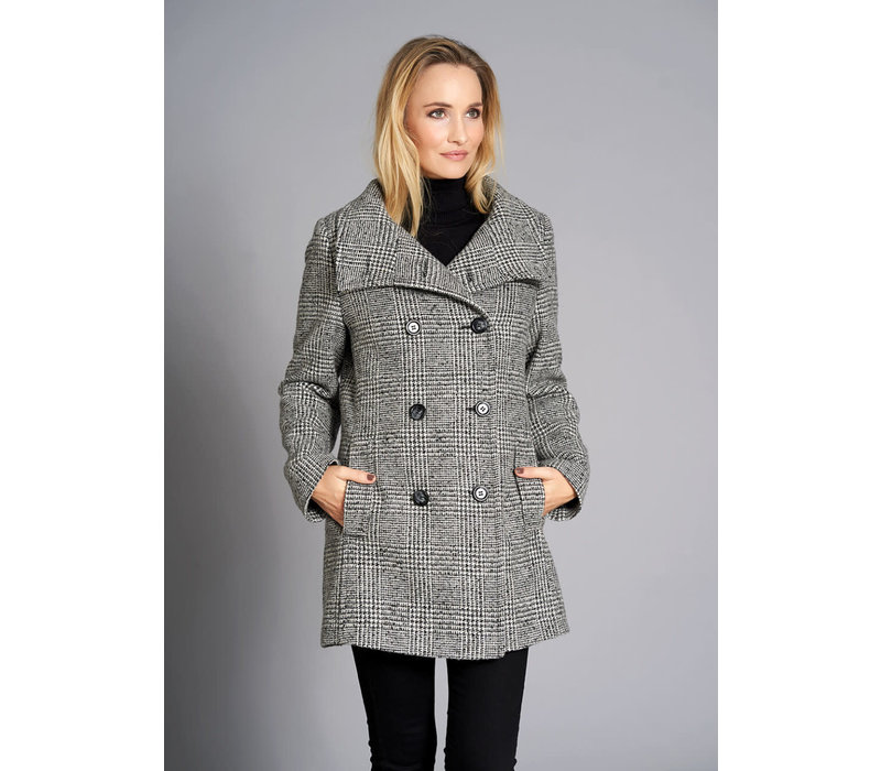 Junge 0219-2627-18 Monocrome Check Wool Jacket