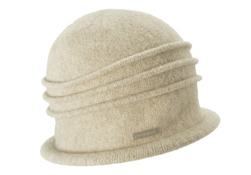 Seeberger Seeberger 014175/94  Sand Wool Hat