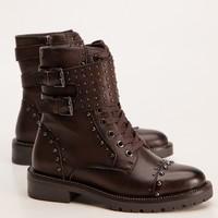 Carmela 66858 Brown Stud A/Boot