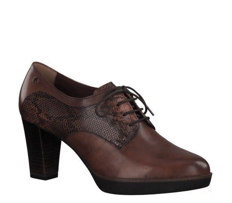 Tamaris 23309 Chestnut/Snake Block Heel