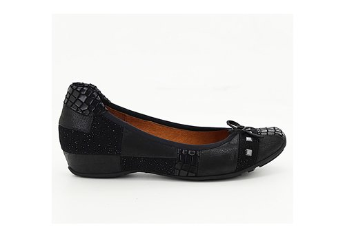 Mamzelle Mamzelle FORLA Black Leather Pumps