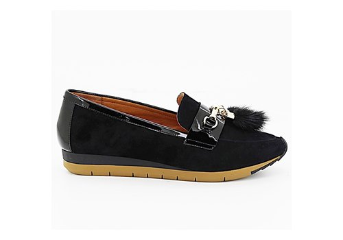 Mamzelle Mamzelle EDELO Black Suede Loafer