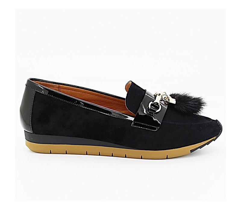 Mamzelle EDELO Black Suede Loafer