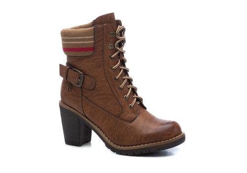 REFRESH A/W Refresh 69302 Tan Block Heel A/Boot