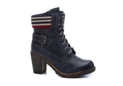 REFRESH A/W Refresh 69302 Navy Block Heel A/Boot