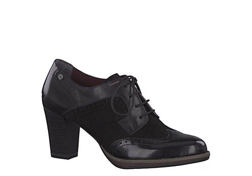 Tamaris Tamaris 23311 Black Heel brogue