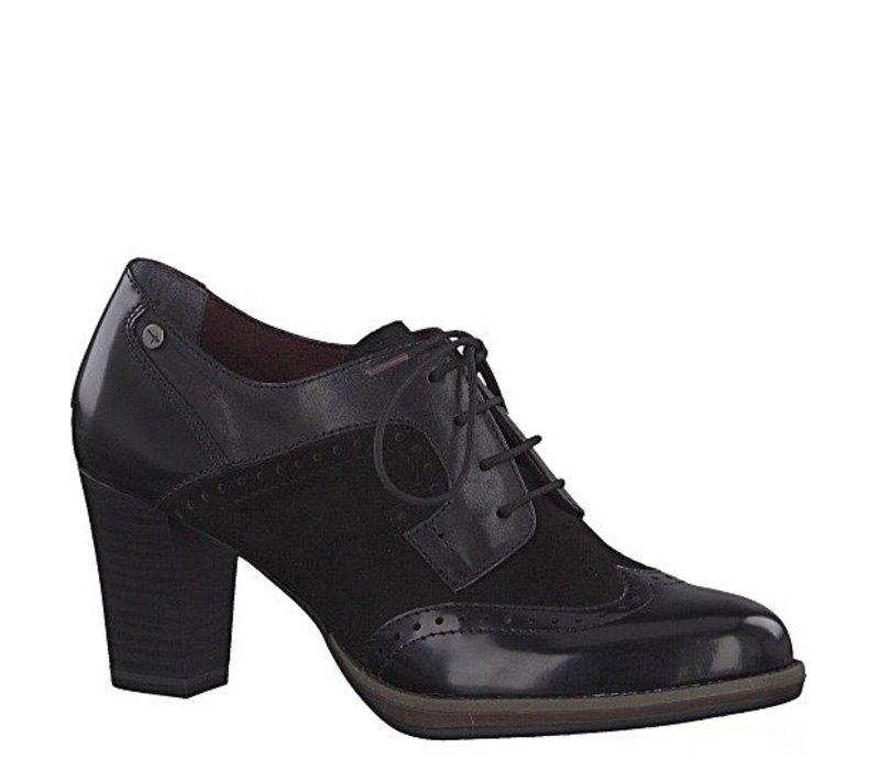 Tamaris 23311 Black Heel brogue