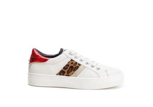 REFRESH A/W Refresh 69343 Cream/Leopard Sneaker
