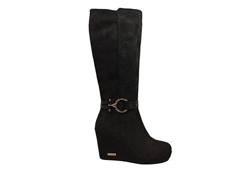 REDZ REDZ X2175-2  Black Suede knee high boots