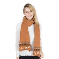 Peach SD51-2 Deep Tan Wool Scarf