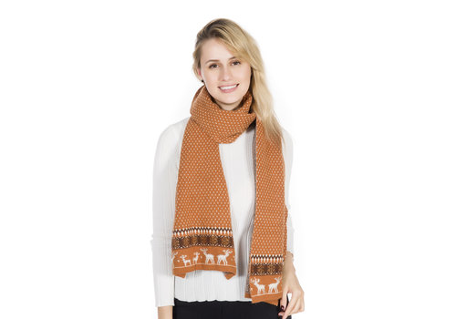 Peach Accessories Peach SD51-2 Deep Tan Wool Scarf