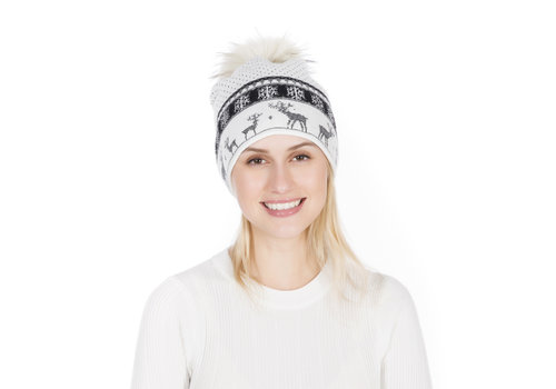 Peach Accessories Peach SD51-1 White pom pom Hat