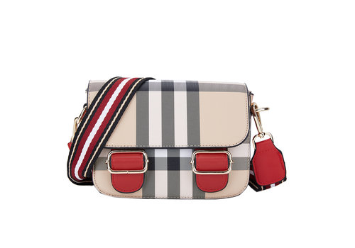 Peach Accessories Peach 5108 Beige Check Bag