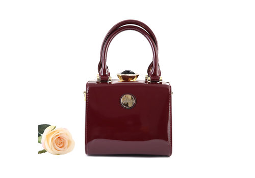Peach Accessories Peach ZW60513 Burgundy Patent Bag