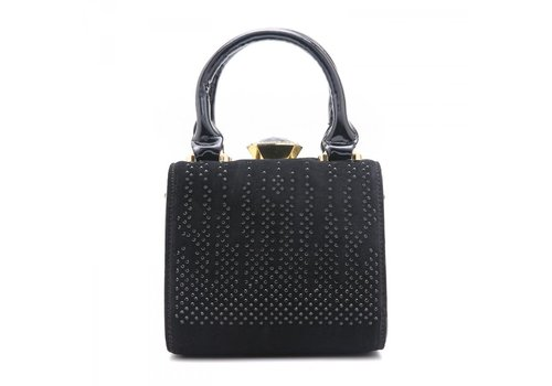 Peach Accessories Peach ZW60513 Black Glitter Patent Bag