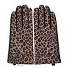 Peach Accessories Peach HA1919 Leopard print leather gloves