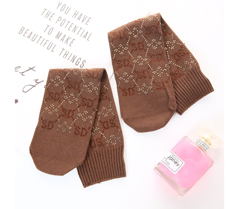 Peach SDK1028 Embellished Socks