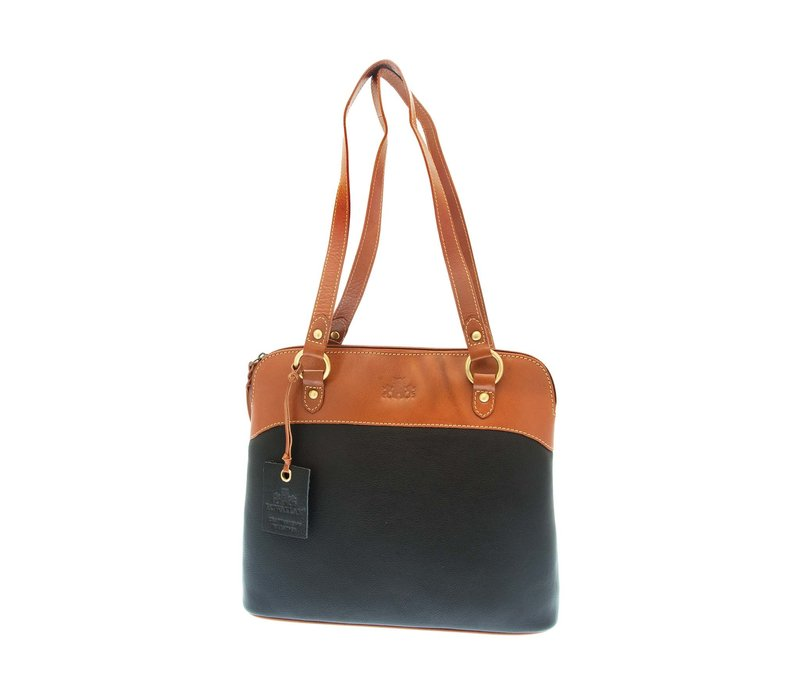 ROWALLAN 31-9282 Blk/Tan Handbag
