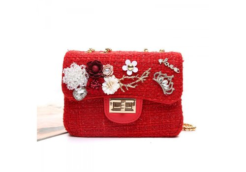 Peach Accessories Peach CH-001 Red tweed Small Bag