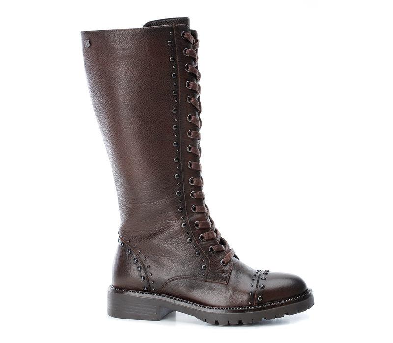Carmela 66960 Brown 3/4 studded boots