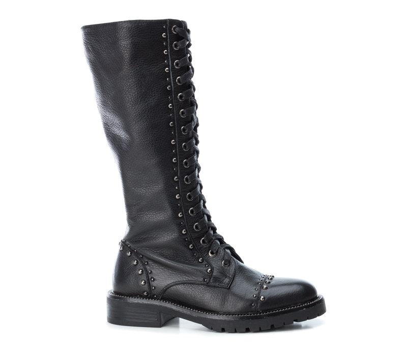 Carmela 66960 Black 3/4 studded boots