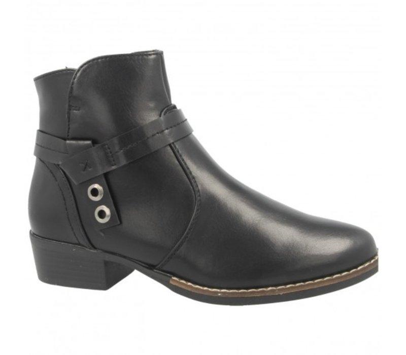 H.F. SASKIA Black A/Boot
