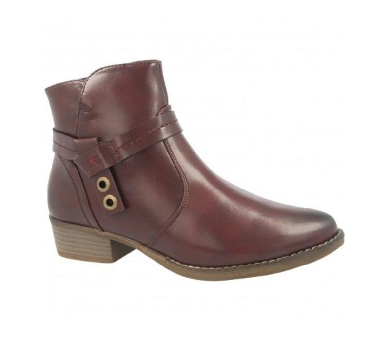 H.F. SASKIA Burgundy A/Boot