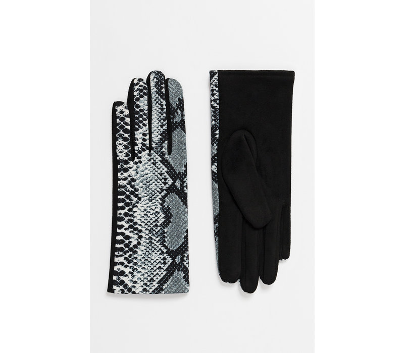 Pia Rossini SHAY Snake print gloves