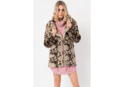 Pia Rossini Pia Rossini Anaconda Faux fur coat