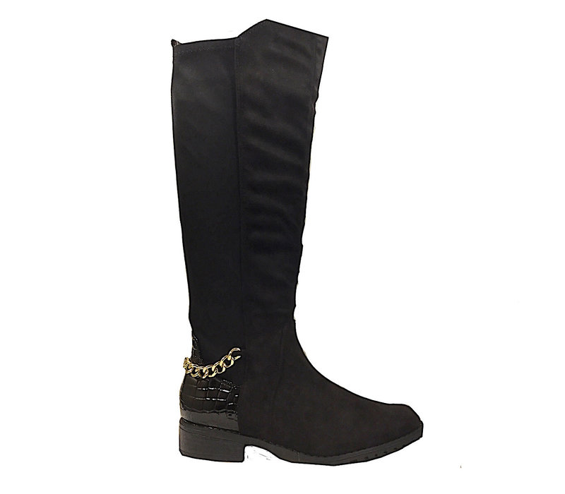 SPROX 484823 Black suede boot
