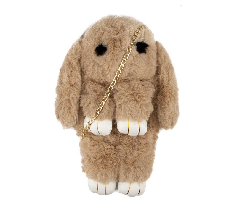 GESSY Bunny shoulder bag in Camel