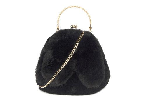 GESSY BAGS GESSY Bunny Ears Black shoulder bag
