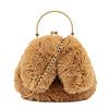 GESSY BAGS GESSY Bunny Ears Camel shoulder bag