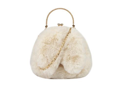 GESSY BAGS GESSY Bunny Ears Cream shoulder bag