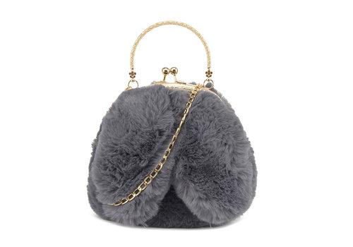 GESSY BAGS GESSY Bunny Ears Grey shoulder bag