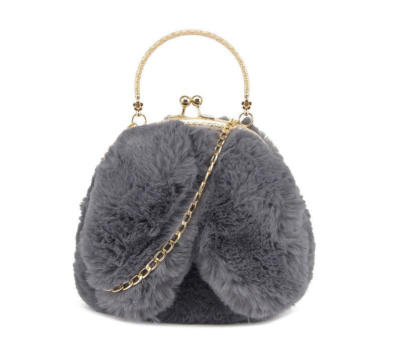 GESSY Bunny Ears Grey shoulder bag