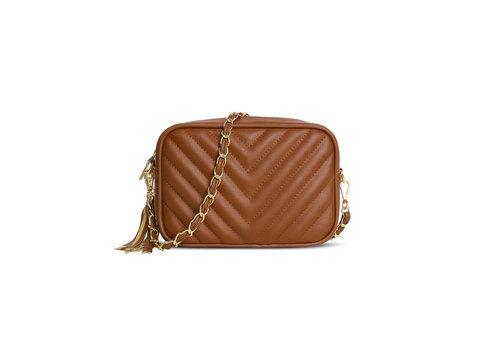 GESSY BAGS GESSY 833 Shoulder Bag in Tan