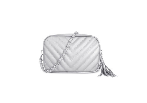GESSY BAGS GESSY 833 Shoulder Bag in Silver