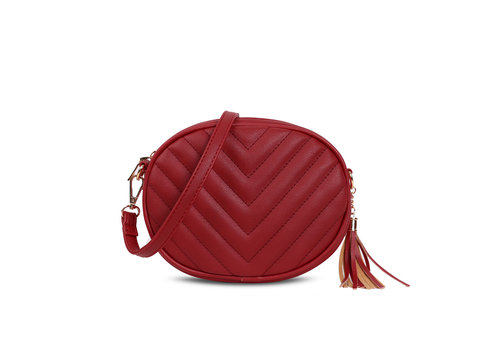 GESSY BAGS GESSY 836 Shoulder Bag in Red