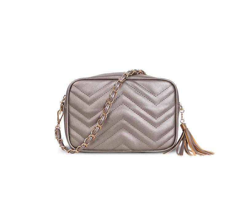 GESSY D833 Shoulder Bag in Pewter