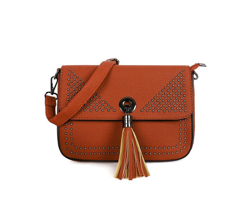 GESSY 9019 Cross Body Bag in Tan