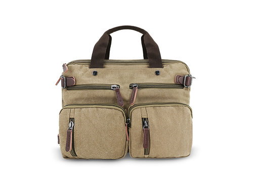 GESSY BAGS GESSY LB104 Business Bag in Khaki