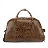 GESSY BAGS GESSY HT01TB Croc Travel Bag W/wheels