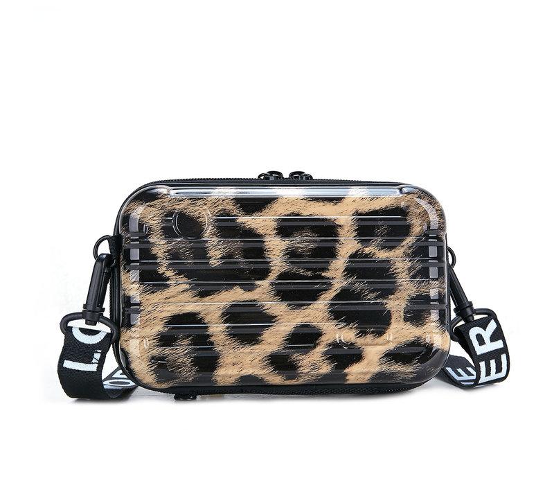 PEACH 190312 Leopard suitcase Bag