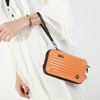 PEACH 190312 Orange suitcase Bag